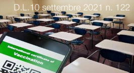 Decreto-Legge 10 settembre 2021 n. 122