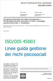 ISO/FDIS 45003 | Guidelines for managing psychosocial risks