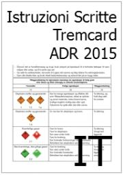 Istruzioni Scritte ADR (Tremcard) 2015 Ufficiali in Italiano: pubblicate sul sito dell'UNECE