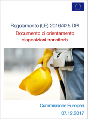 Regolamento (UE) 2016/425 DPI - Documento orientativo su disposizioni transitorie
