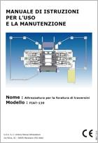 Manuale Istruzioni Uso Manutenzione: Attrezzatura foratura