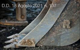 Decreto Direttoriale 18 Agosto 2021 n. 137