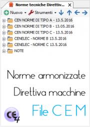 Norme armonizzate Direttiva macchine 2006/42/CE: il file CEM