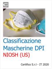 Classificazione Mascherine DPI NIOSH (US)