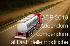 ADR 2019: Addendum e corrigendum al Draft delle modifiche
