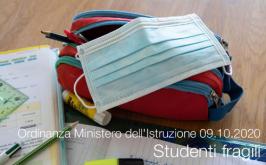 Ordinanza Ministero dell'Istruzione 09.10.2020 | Studenti fragili