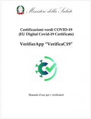 "VerifierApp ""VerificaC19"" - Manuale d'uso per i verificatori"