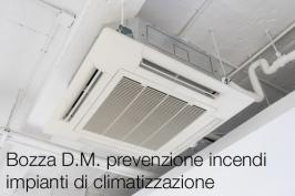 Bozza D.M. prevenzione incendi impianti di climatizzazione