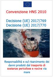 Convenzione HNS 2010 - Decisione (UE) 2017/769 - 2017/770