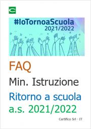 FAQ Ministero dell'Istruzione Ritorno a scuola a.s. 2021/2022