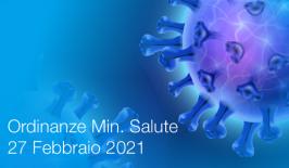 Ordinanza Ministero della Salute 27 Febbraio 2021