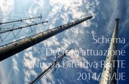 Testo dello schema di decreto di attuazione della nuova Direttiva R&TTE 2014/53/UE