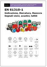 Simbologia interfaccia uomo-macchina EN 61310-1:2008