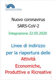 COVID-19 | Linee guida riapertura attività Economiche e Produttive Rev. 22.05.2020