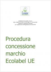 Procedura concessione marchio Ecolabel UE