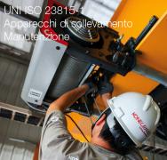 UNI ISO 23815-1 Apparecchi di sollevamento - Manutenzione