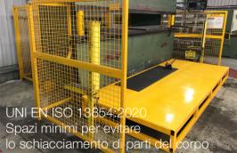 UNI EN ISO 13854:2020   Spazi minimi per evitare lo schiacciamento di parti del corpo