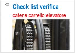 Check list verifica catene carrelli elevatori