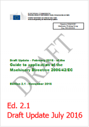 Guide to application of the machinery directive 2006/42/EC - Update July 2016