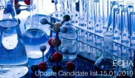 ECHA: Update Candidate list 15.01.2019