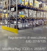 Regolamento di esecuzione (UE) 2018/125