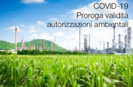 COVID-19 | Proroga validità autorizzazioni ambientali