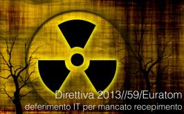 Direttiva 2013/59/Euratom: deferimento IT per mancato recepimento