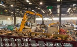 Linee Guida SNPA applicazione della disciplina end of waste