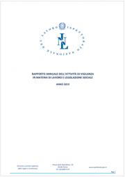 Rapporto annuale ispettorato nazionale del lavoro 2019