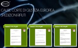 Spedizioni Rifiuti: testi cause rilevanti Corte Giustizia Europea