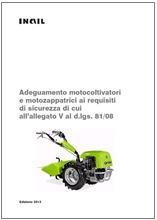 Adeguamento motocoltivatori e motozappatrici TUSL