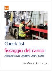 Check list fissaggio del carico