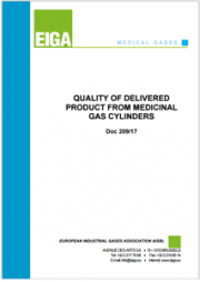 Quality of delivered product from medicinal gas cylinders