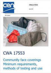 CEN/TS 17553: la nuova specifica tecnica CEN per le mascherine di comunità