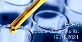 ECHA: Update candidate list 19.01.2021