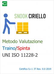 Metodo Snook Ciriello - Valutazione Traino/Spinta UNI ISO 11228-2