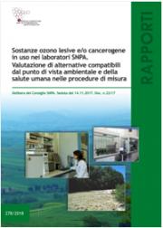 Sostanze ozono lesive e/o cancerogene in uso nei laboratori SNPA