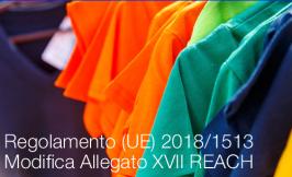 Regolamento (UE) 2018/1513 | Modifica Allegato XVII REACH