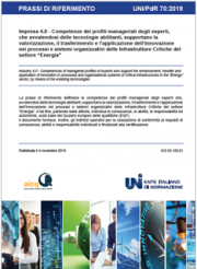 UNI/PdR 70:2019 | Impresa 4.0 profili esperti settore Energia