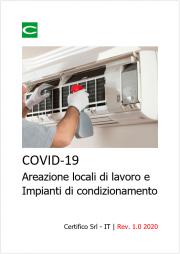COVID-19 Areazione locali di lavoro e modalità uso impianti di condizionamento