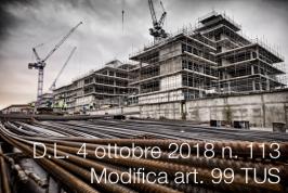 Decreto-Legge 4 ottobre 2018 n. 113