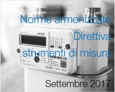 Norme armonizzate Direttiva strumenti di misura Settembre 2017