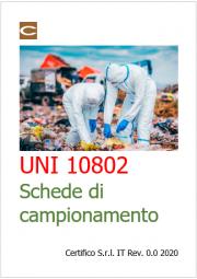UNI 10802:2013 Campionamento dei rifiuti