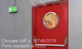 Circolare VVF n. 16746 del 06/11/2019 Porte resistenti al fuoco