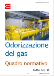Odorizzazione del gas: Quadro normativo