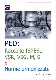 PED: Uso Raccolte ISPESL VSR, VSG, M, S e Norme armonizzate