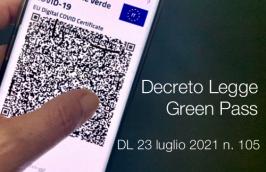 Decreto-Legge 23 luglio 2021 n. 105