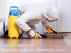 UNI EN 14885:2019   Norme Europee per i disinfettanti chimici