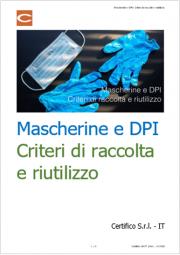 Mascherine e DPI: Criteri di raccolta e riutilizzo