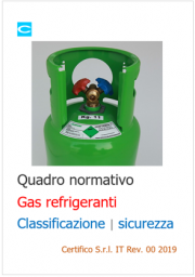 Gas refrigeranti: quadro normativo classificazione e sicurezza